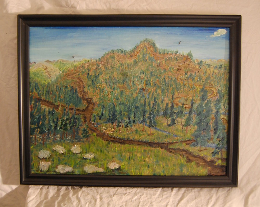 East Mountain  Oil on canvas  18 x 24  Black frame
