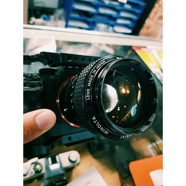 😍 at first click. #a7sii #minolta #58mm #vsco #cameramall