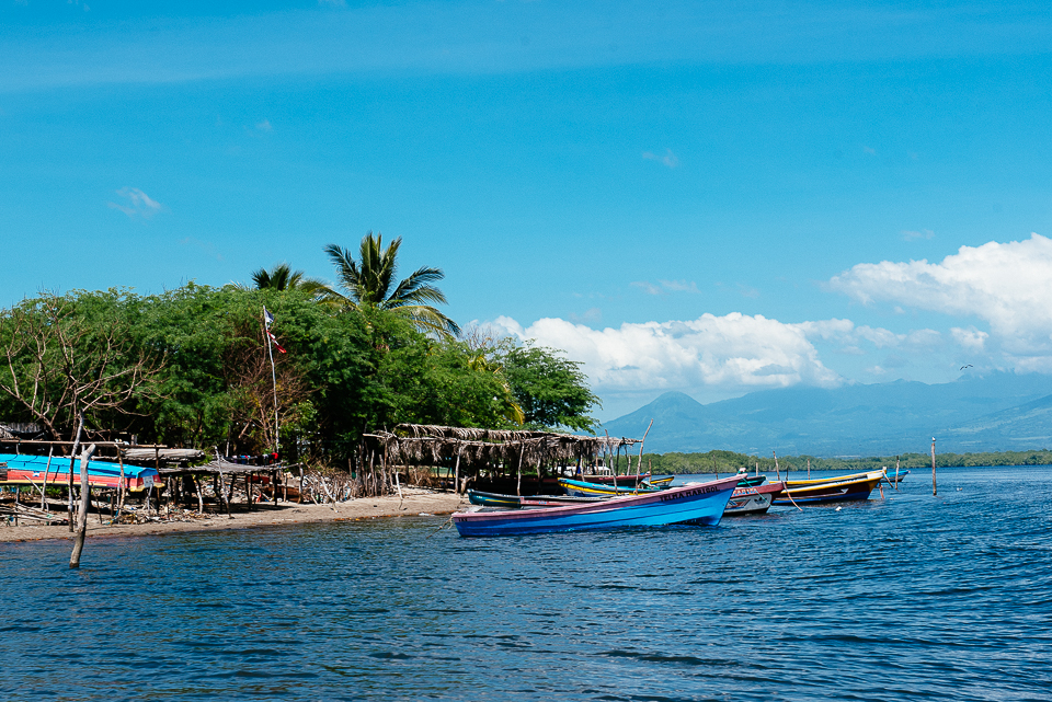 Small fishing villages like these can be found through Jiquilisco Bay, which is known for its rich marine biodiversity because of the mangrove habitat.