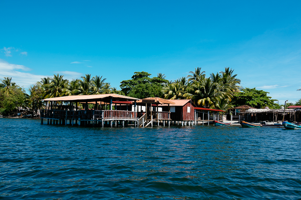 We'd worked up quite an appetite, so we headed to Isla la Pirraya, a small fishing village with a community-run restaurant on the water.