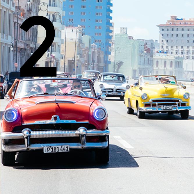 Cuba tour day 2: classic convertible tour of Havana, Cuba