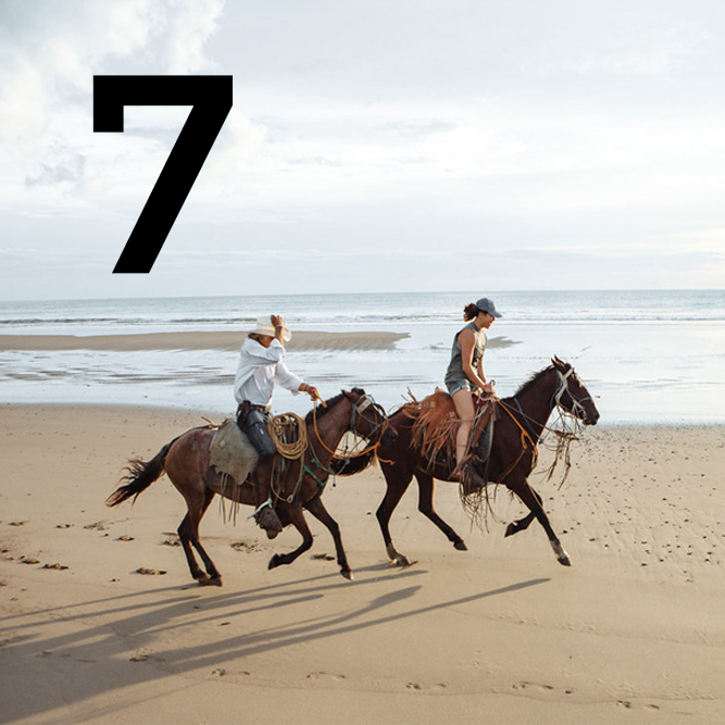 2018 Nicaragua itinerary day 7. Horse riding on the beach