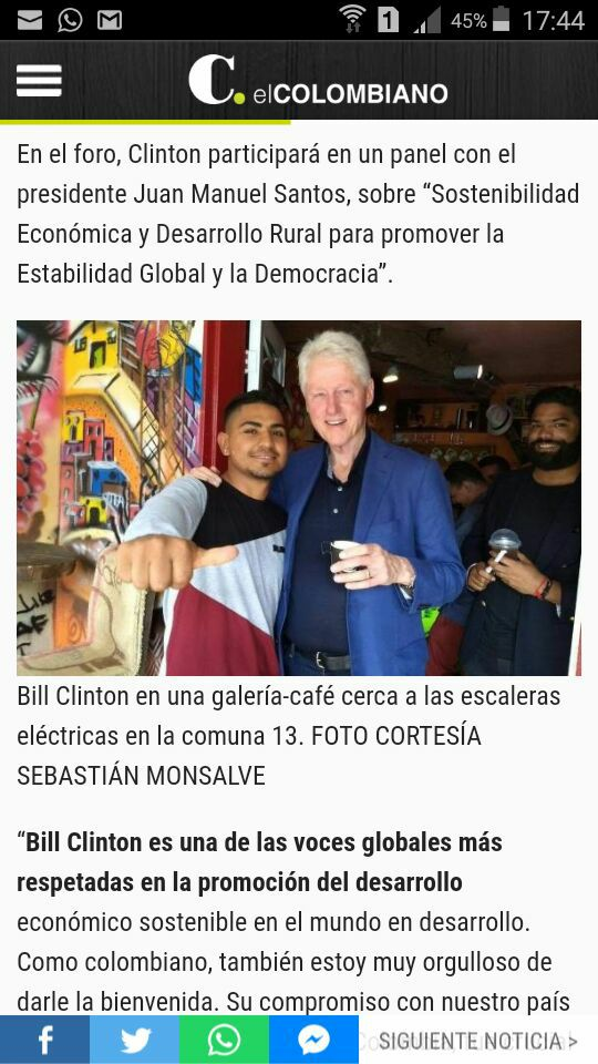 Bill Clinton and Chota in Colombia