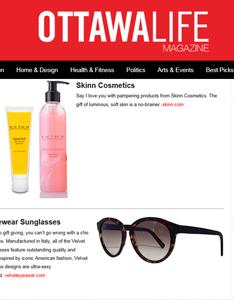 Velvet featured in OttawaLife Magazine Valentine's Day Gift Guide Feb. '15