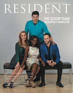 """Velvet in """"Resident"""" Magazine Oct '14"""