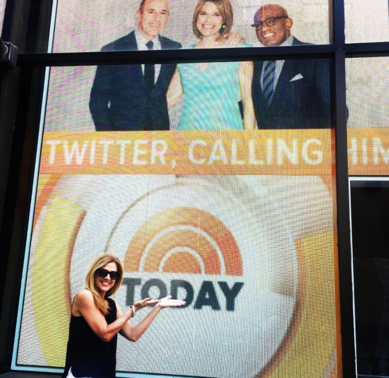 This is an impromptu pic taken outside the TODAY SHOW studio in Rockefeller Center of our founder and CEO, Cindy Hussey.