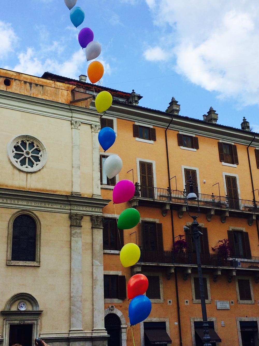 Balloons in a Piazza in Rome