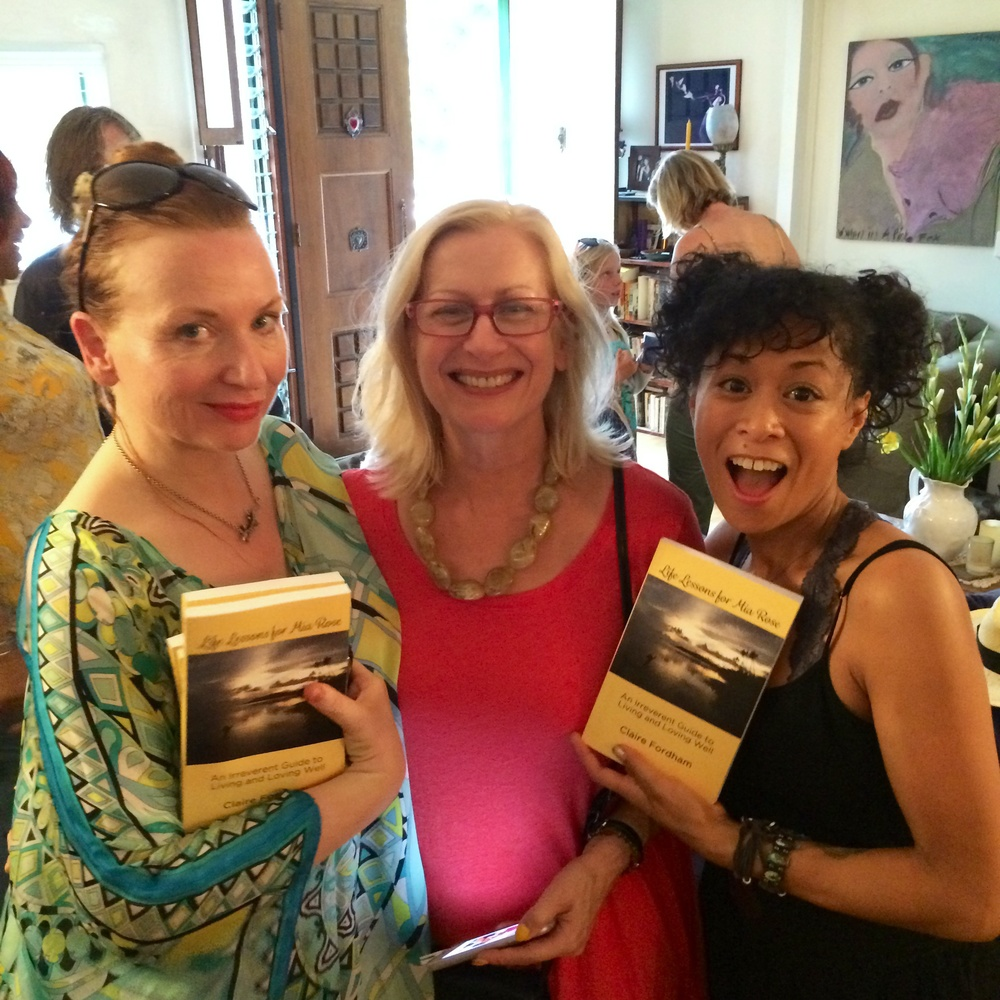 Judith Owen, Claire Fordham and Celia Chavez with Claire's new book!