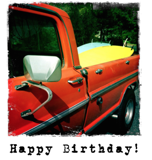 Happy Birthday C 408A Red Truck