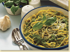 Pasta with Italian Basil Pesto