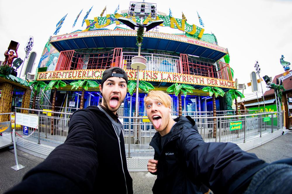 Oktoberfest fisheye selfie