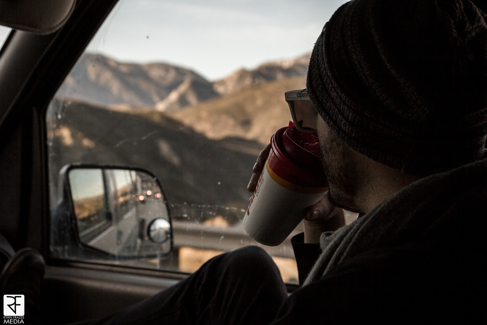 Morning coffee on the way into Cali