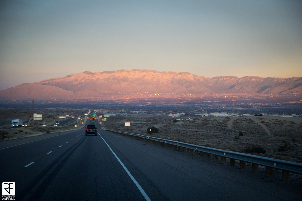 Pulling into ABQ