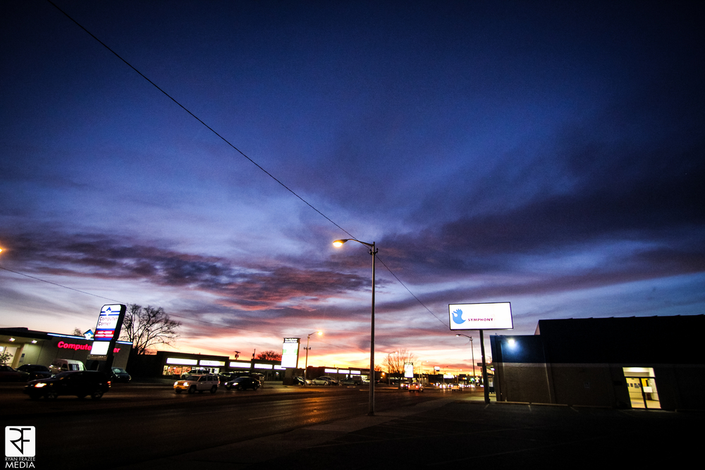 Walked out of the camera store and was greeted with this sunset. Not bad ABQ