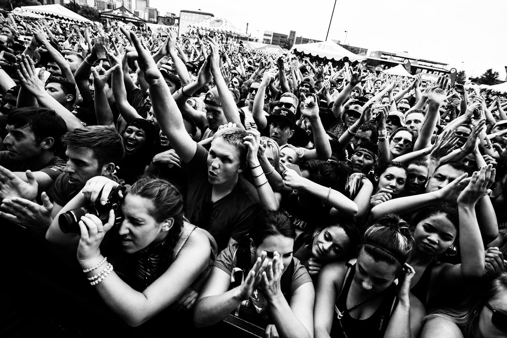 Unreleased shot of fans at Warped. I can't remember what set this was taken during.