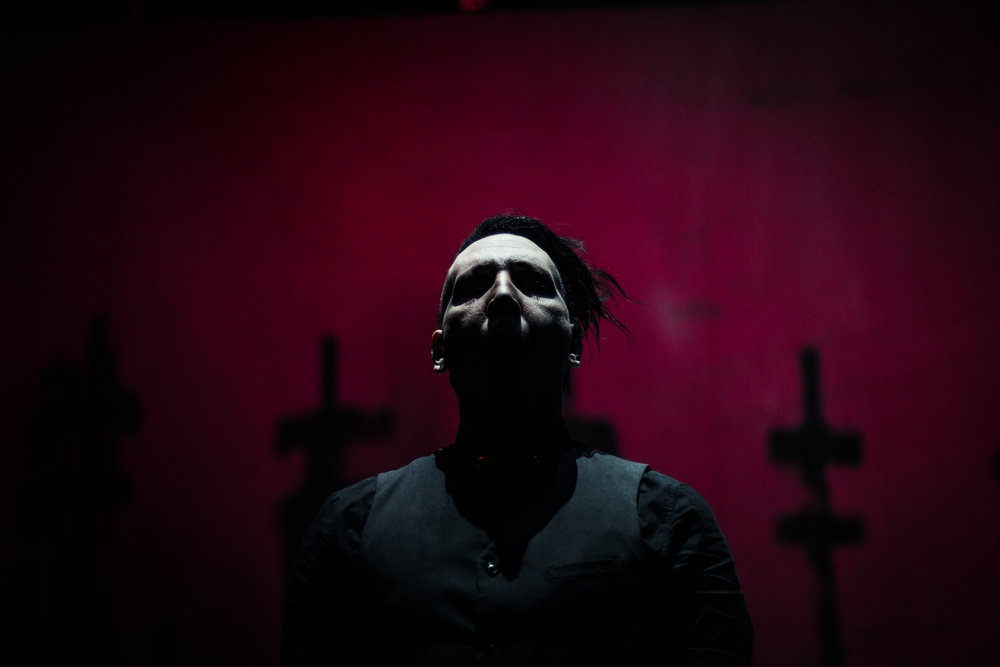 This was the first time I shot at the Pepsi Center. What a crazy fun show. Marilyn Manson and Slipknot. Favorite shot of Manson. Something about it just makes me feel like it really captured him.
