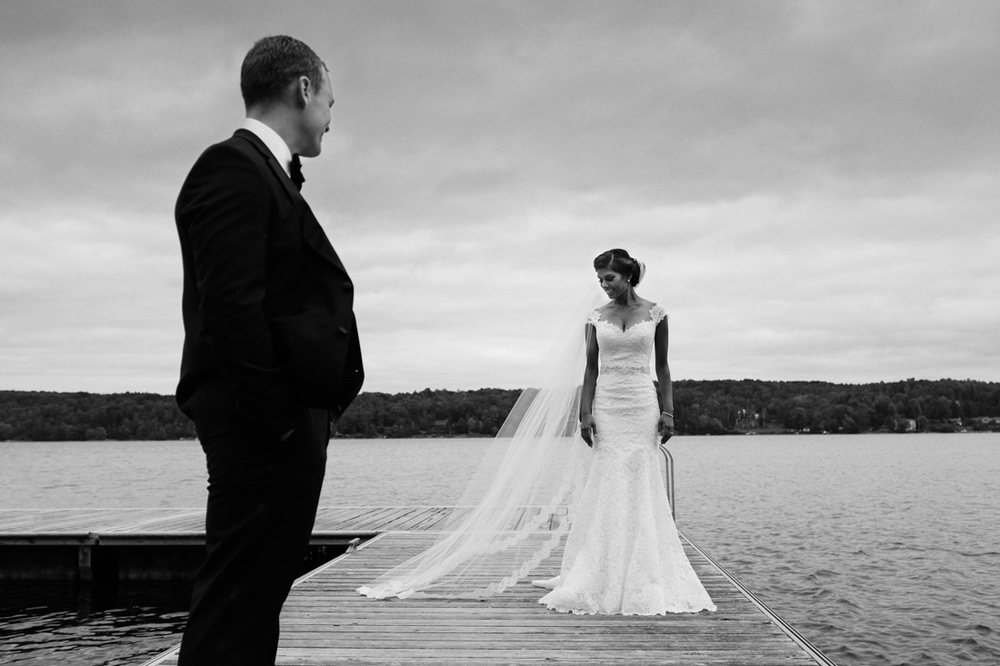 destination Indian wedding portraits beside the lake at Manoir Hovey, Quebec.jpg