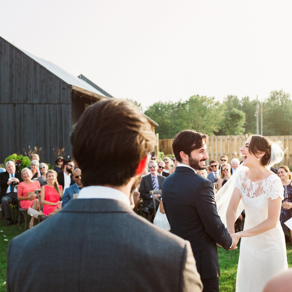 Julia and Joseph were married at a my new favourite wedding venue, Evermore Weddings & Events, located on 45 gorgeous acres of farmland in Almonte, Ontario. The wide views and rustic decor here are wonderful, the kitchen staff are equally fantastic.