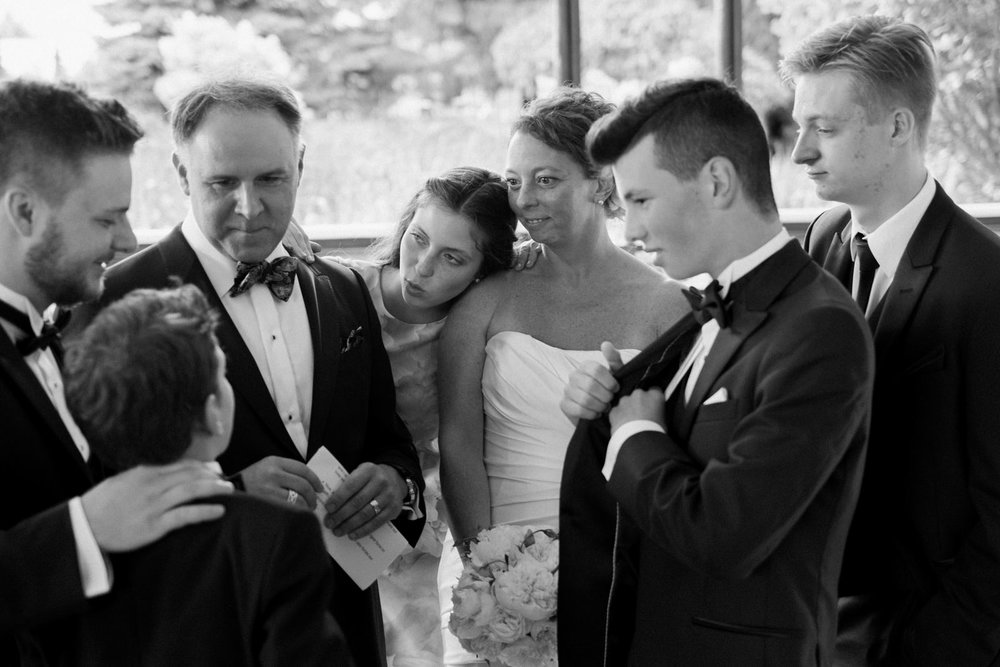 A family all together just moments after their wedding ceremony, in Montreal Quebec.