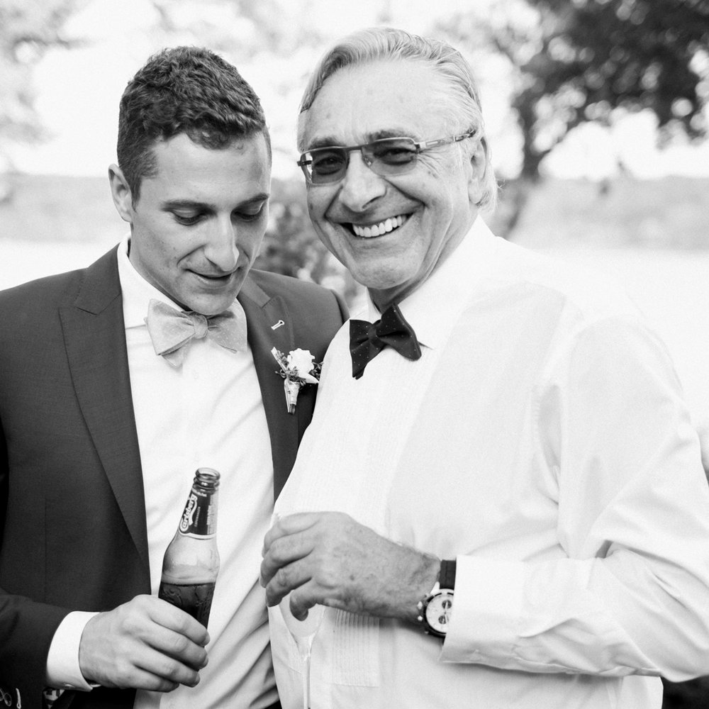 Father and son wedding portrait.