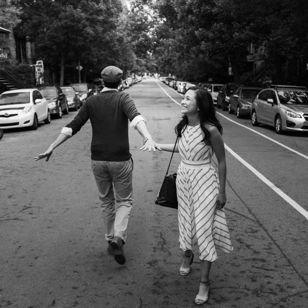 Creative Vancouver couple fly to Montreal for their Adventure Session in Mile End.
