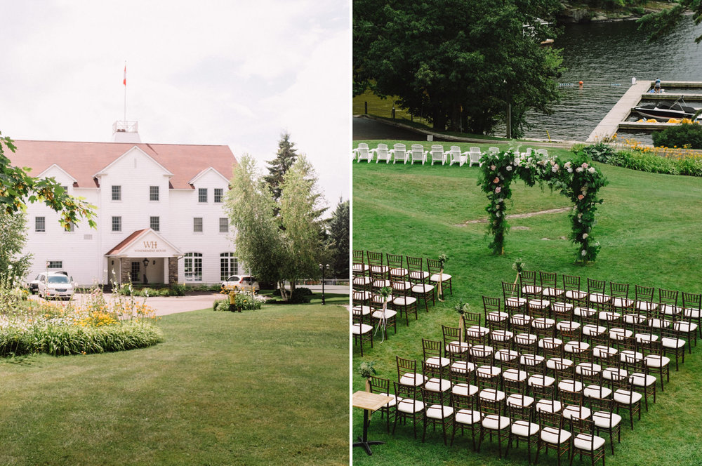 windermere house Muskoka wedding ceremony