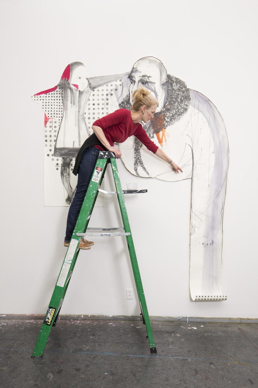 Ellen Goldschmidt hanging  Riding Hood
