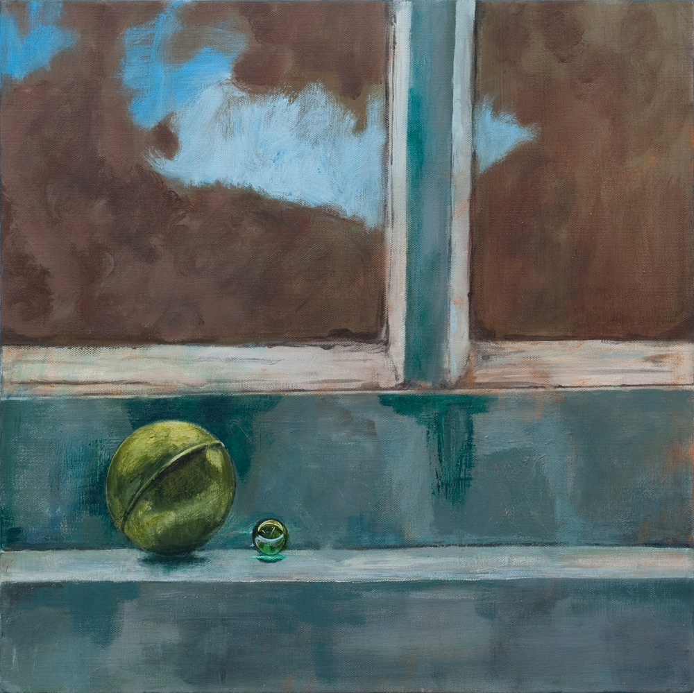 Untitled (window, spheres)