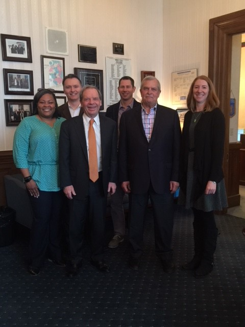 NASWIL Advocacy Day  April 11, 2018 - Kmetko staff visited the capitol on National Association of Social Work Illinois Advocacy Day to talk with legislators about the agency's work. Staff had the opportunity to meet with the Illinois Senate President John J. Cullerton, who represents the district where the agency's office is located.