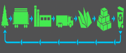Figure 1: Transportation of paper manufacturing materials and products.
