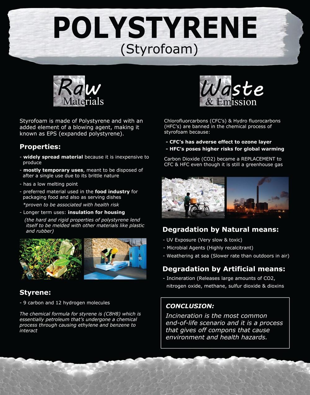 Polystyrene (Styrofoam) Life Cycle