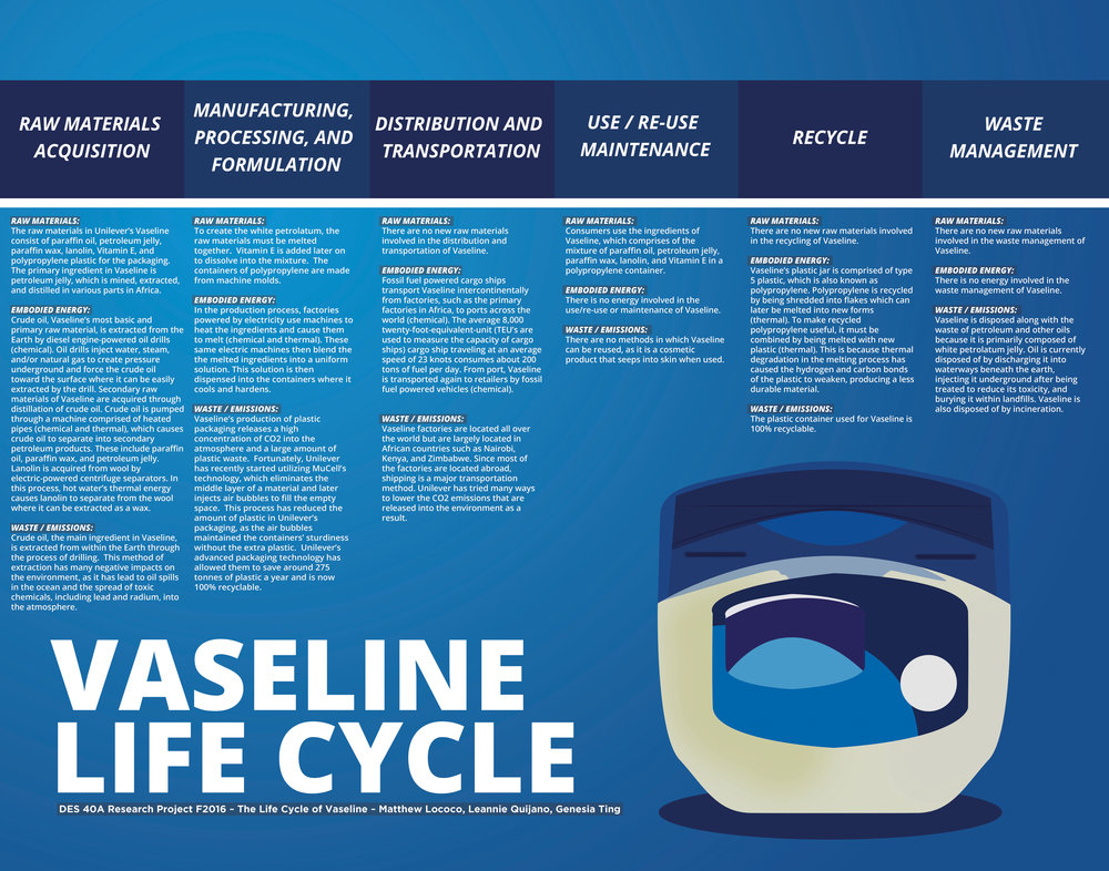 Vaseline Life Cycle Poster