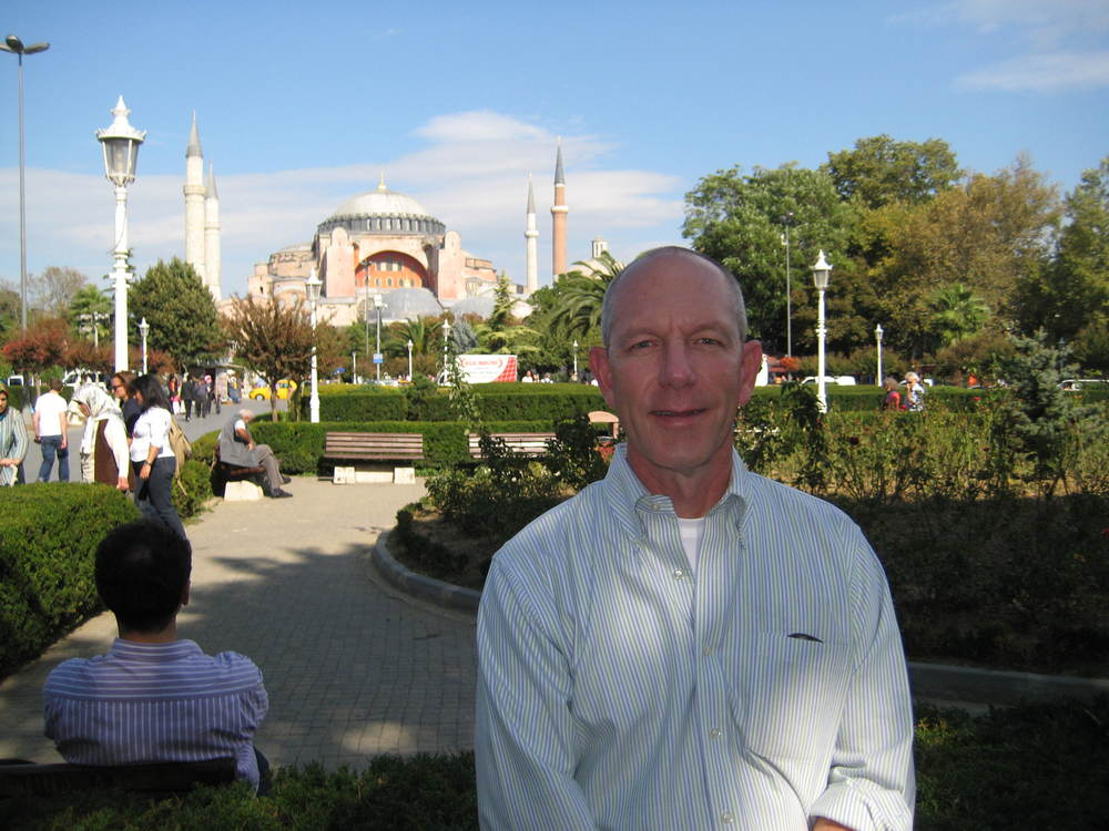 Collaborating with a partner in Istanbul.
