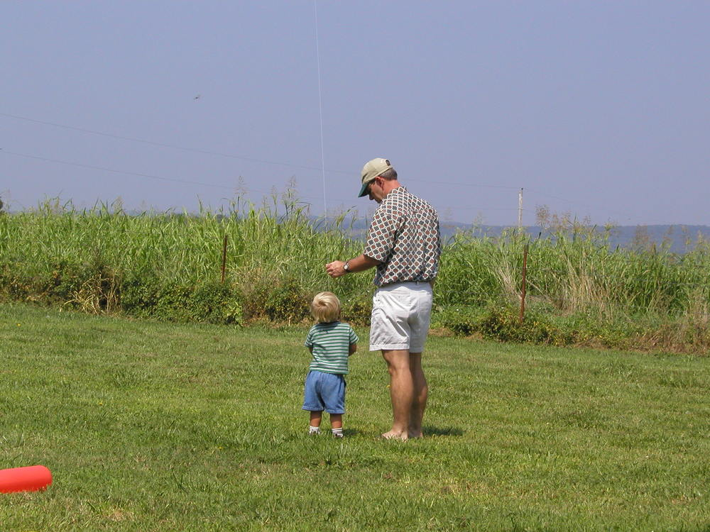 Flying a kite with my namesake in Missouri.