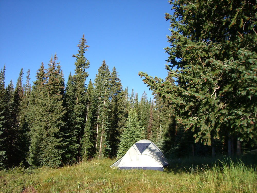Camping above Aspen in a tent that didn't work...