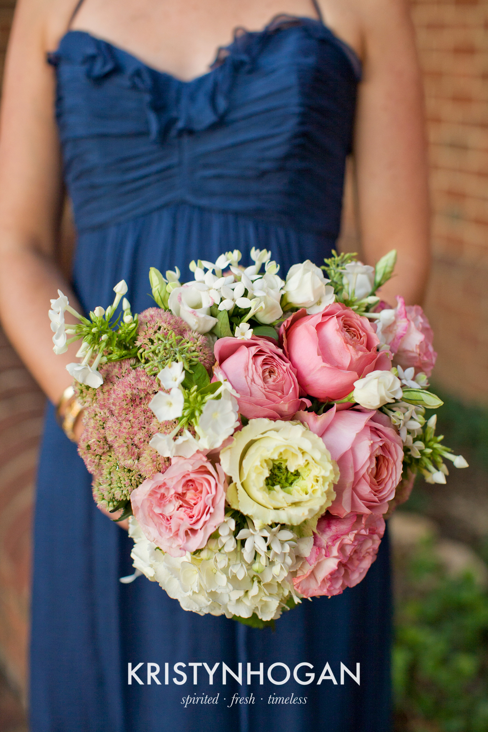 Bouquet of Garden Rose, Phlox, Lisianthus, Sedum , Hydrangea, and Bouvardia.