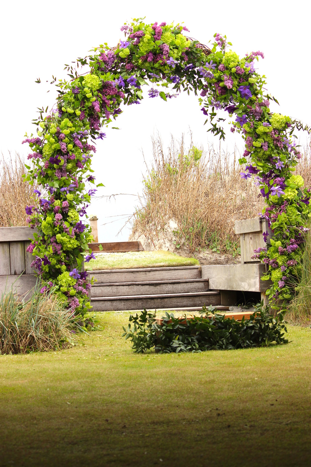 Arch of Lilac, Viburnum and Clematis - Figure 8 Island, NC