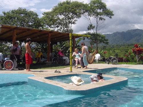 Wheelchair-friendly pool