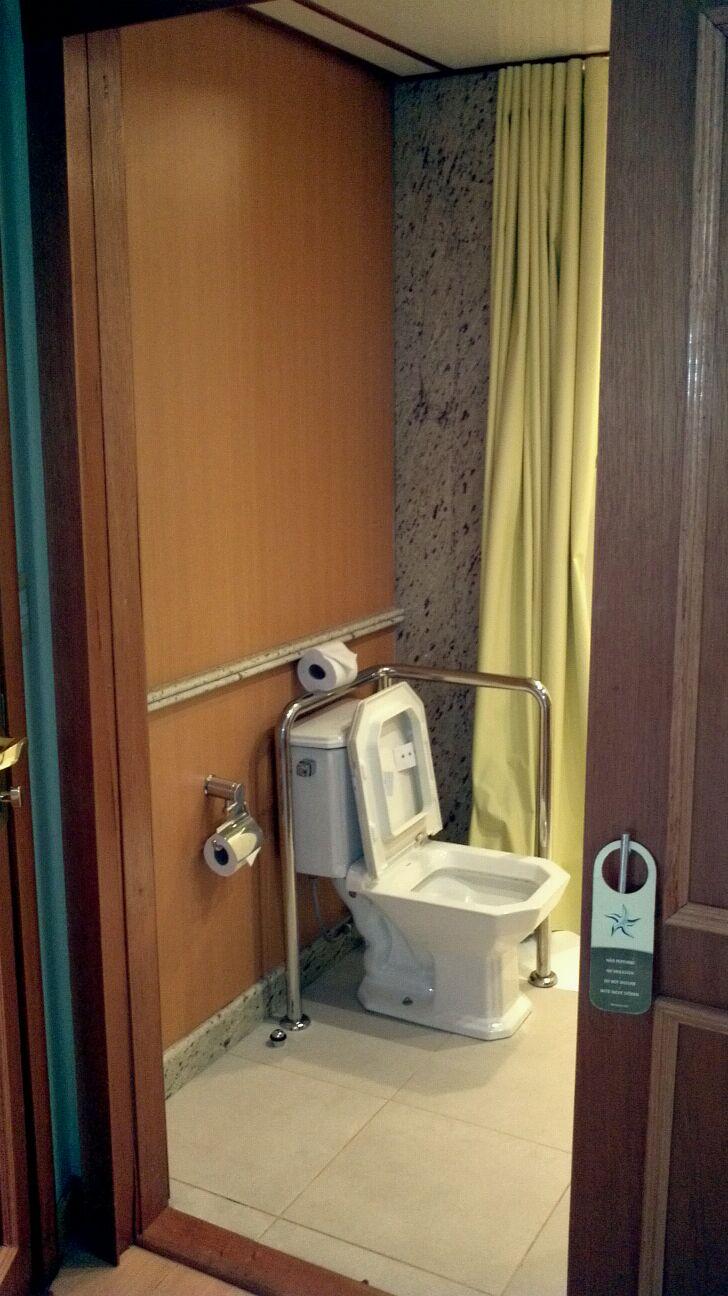 Wheelchair-friendly bathroom