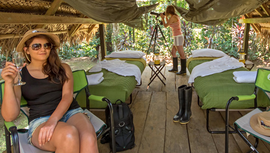 Glamping in the Amazon