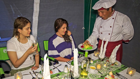 Fine dining with your glamping experience