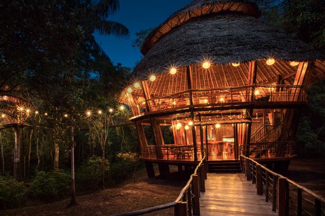 Treehouse Lodge Peru at Night