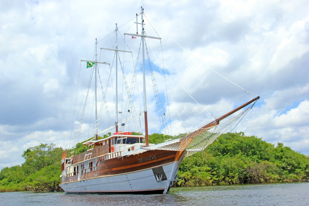 The Unique Desafio Riverboat - the Only Schooner on the Amazon