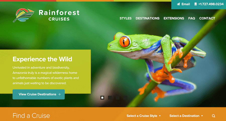 Rainforest Cruises New Homepage