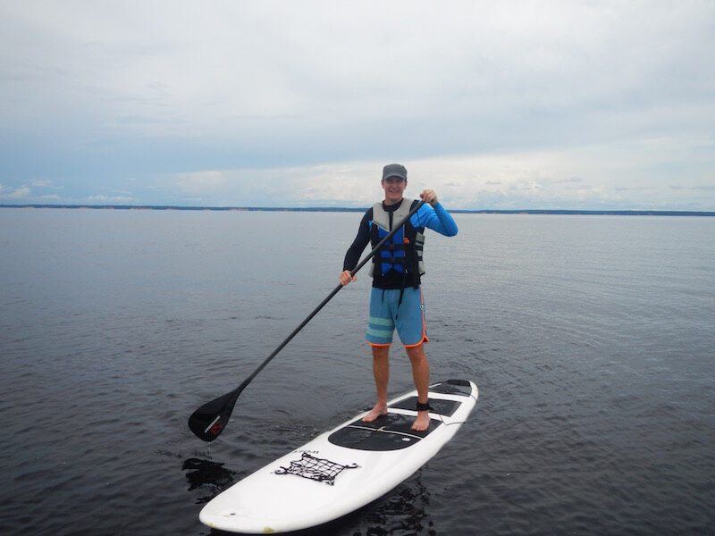 Stand Up Paddle Boarding on the Rio Negro