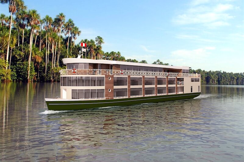 Exterior of the Amazon Discover River Vessel
