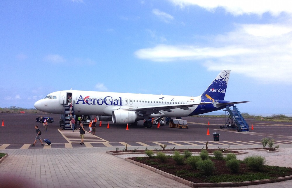 Avianca Ecuador, formally known as AeroGal in San Cristobal Airport