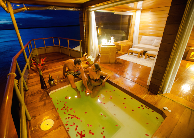 Romantic Evening on the Delfin I, Private Plunge Pool.