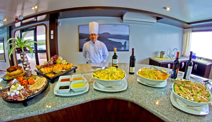 Ocean Spray Galapagos Cruise Buffet