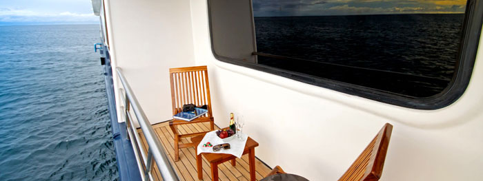 Ocean Spray boat balcony
